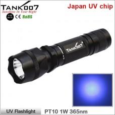 Ультрафиолетовый фонарь Tank007 PT10 UV Flashlight 365 1W