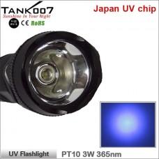 Ультрафиолетовый фонарь Tank007 PT10 UV Flashlight 365 3W