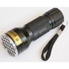 Ультрафиолетовый фонарь на 21 светодиод 395нм