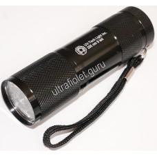 Ультрафиолетовый фонарь на 9 светодиодов 365нм