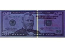 Как проверить доллар на подлинность ультрафиолетом (что должно светиться)